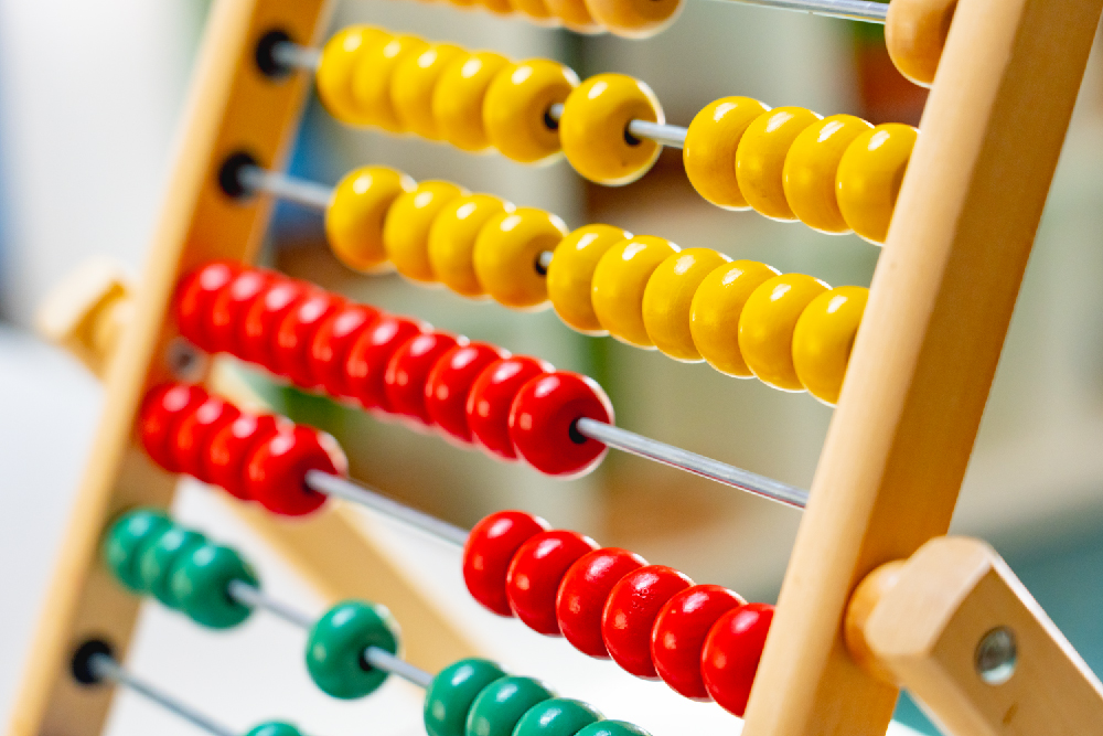 An abacus that is used to teach math