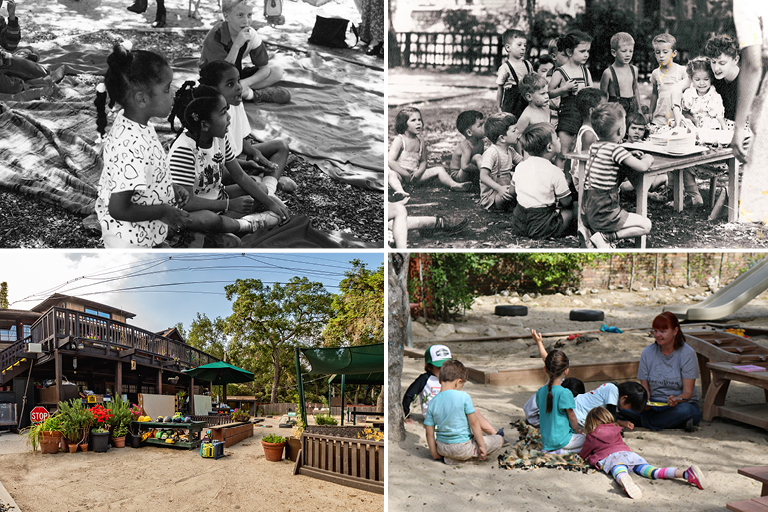 4 photos in a grid should children